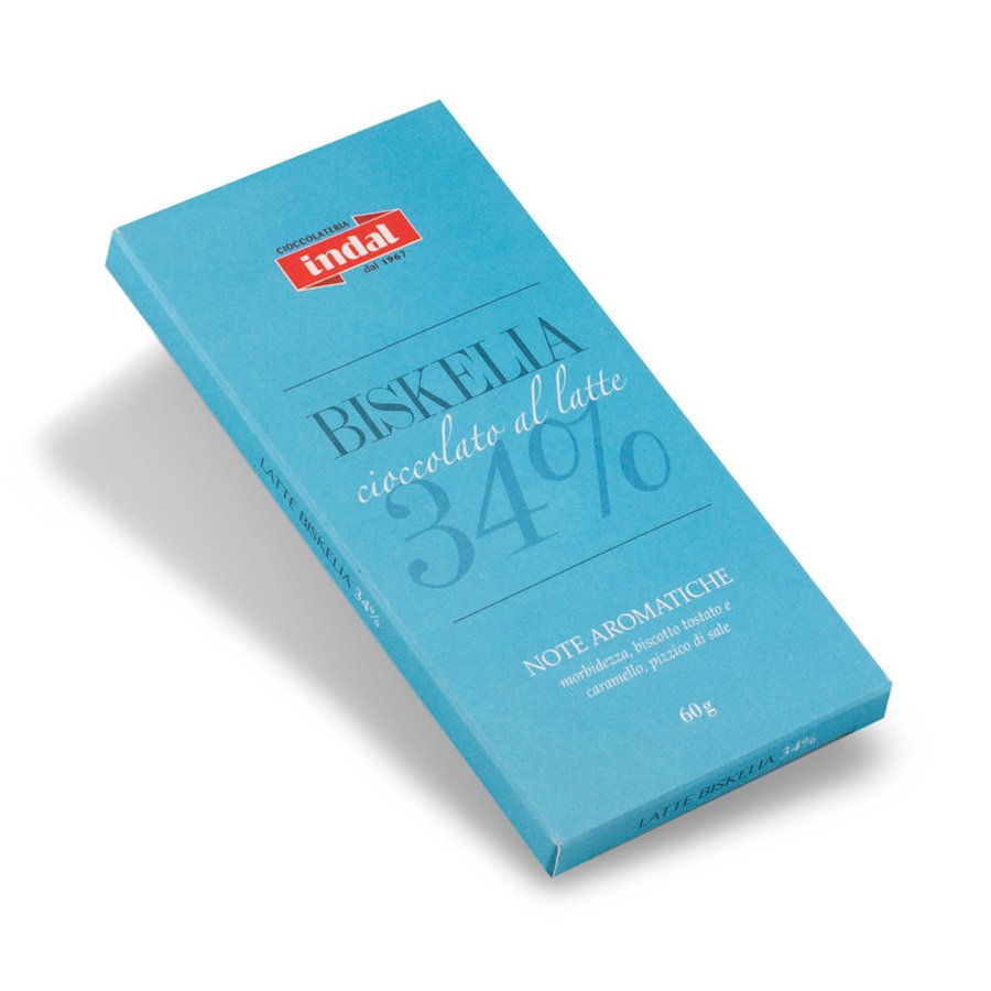 """Tavoletta cioccolato al latte """"Biskelia"""" 34% – 60g"""
