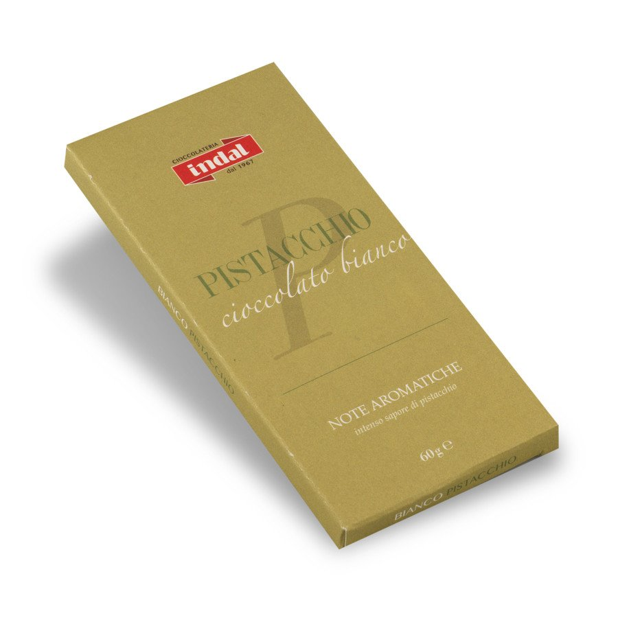 """Tavoletta cioccolato bianco """"Pistacchio"""" – 60g"""