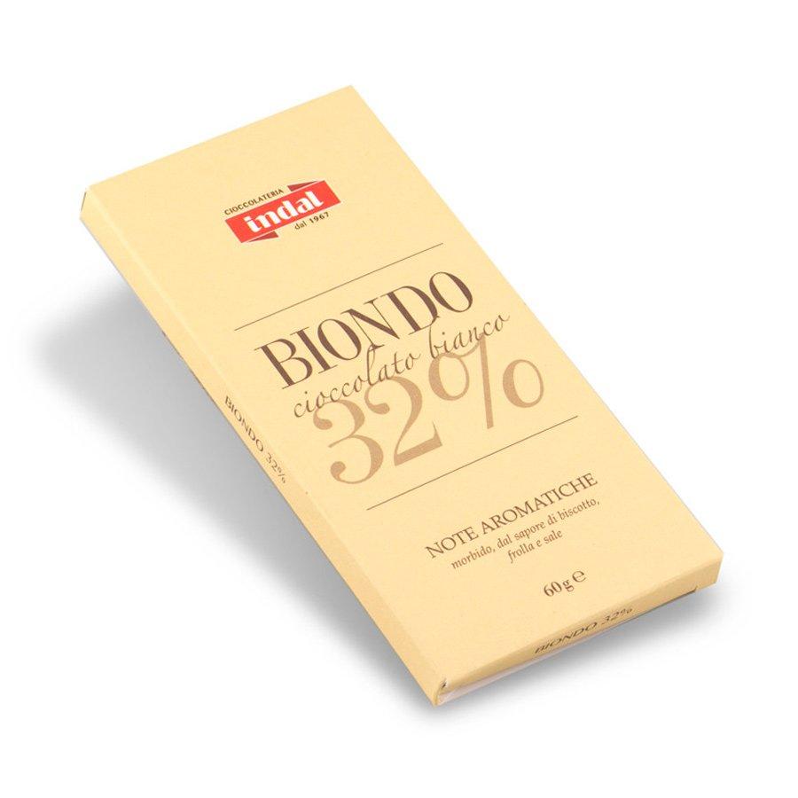 """Tavoletta cioccolato bianco """"Biondo"""" 32% – 60g"""