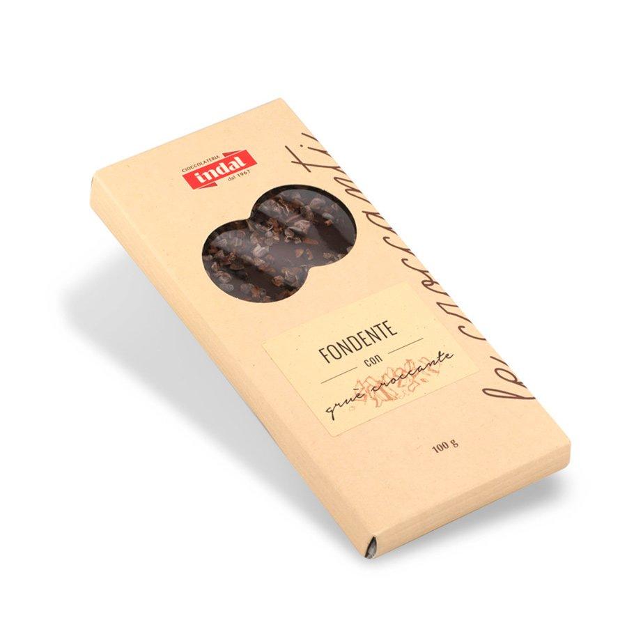 Tavoletta cioccolato fondente con gruè croccante – 100g