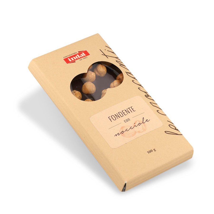 Tavoletta cioccolato fondente con nocciole – 100g