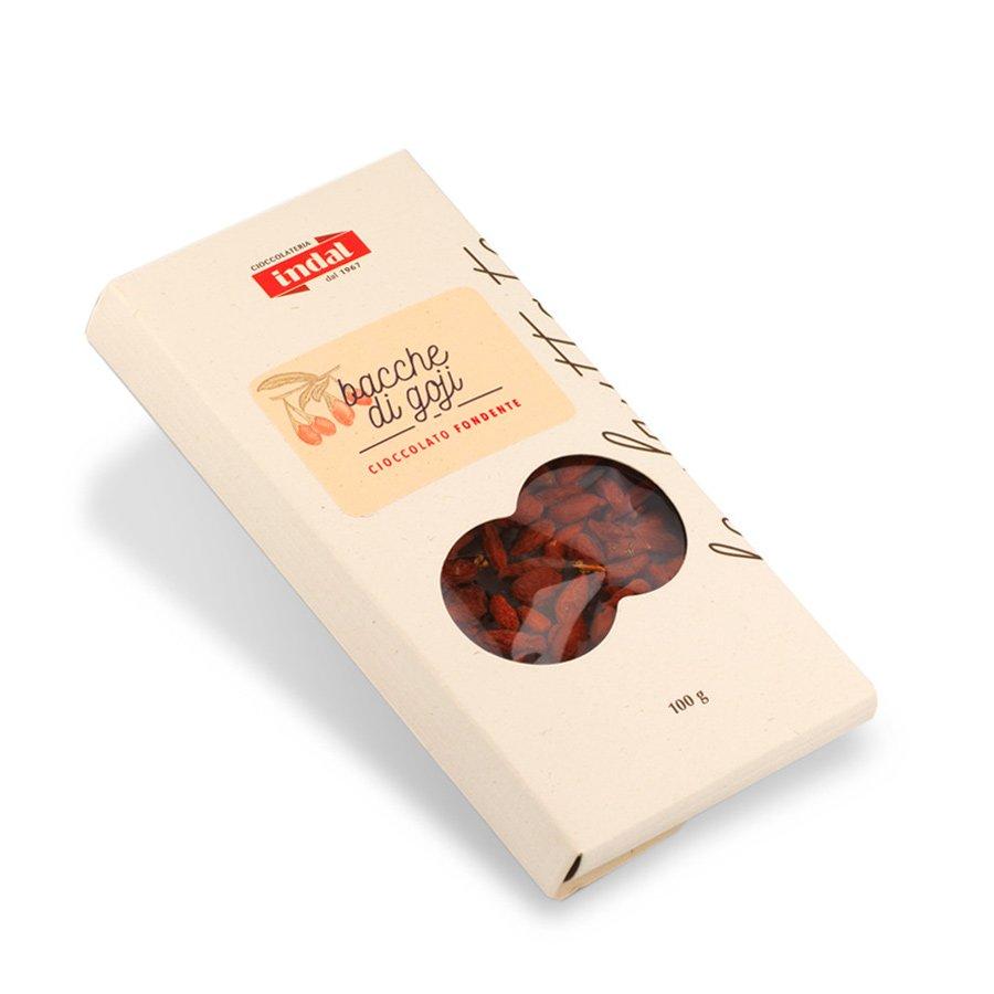 Tavoletta cioccolato fondente con bacche di goji – 100g