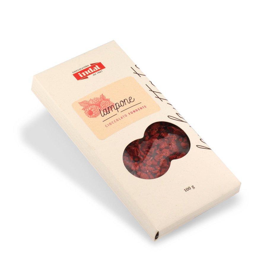 Tavoletta cioccolato fondente con lampone – 100g