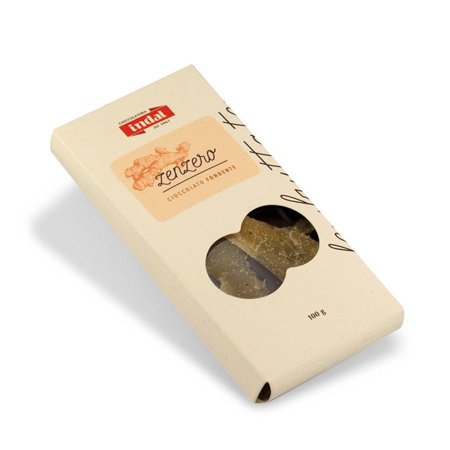 Tavoletta cioccolato fondente con zenzero – 100g