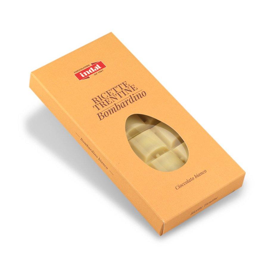 """Tavoletta cioccolato bianco con """"Bombardino"""" – 100g"""